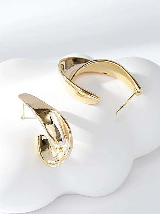 Gold Zinc Alloy Irregular Trend Drop Earring