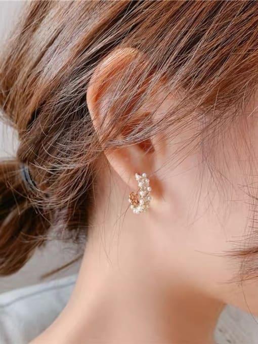 KEVIN Brass Cubic Zirconia Irregular Minimalist Stud Earring 1