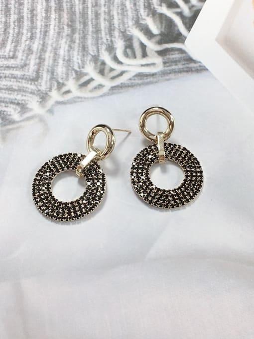 KEVIN Brass Rhinestone Cone Trend Drop Earring