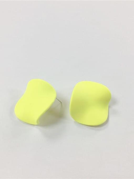 fluorescence color Zinc Alloy Enamel Irregular Trend Stud Earring