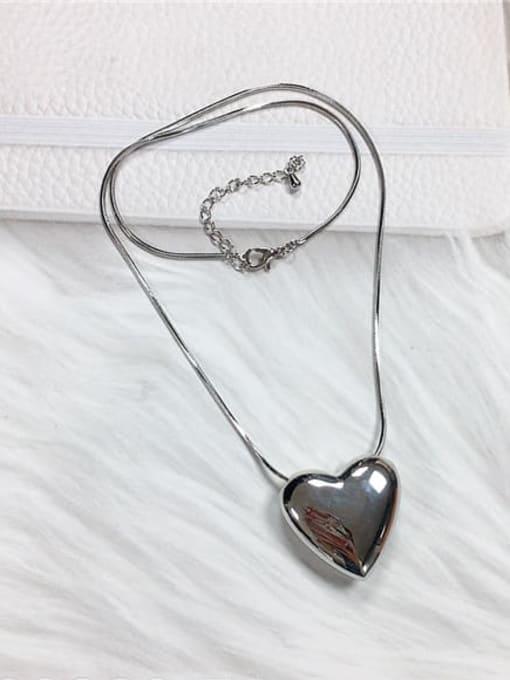 KEVIN Zinc Alloy Heart Trend Necklace 0