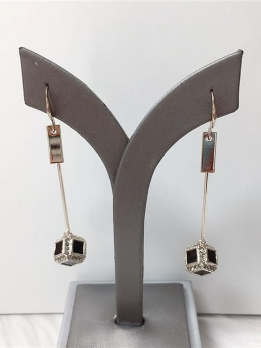 KEVIN Zinc Alloy Rhinestone Acrylic Irregular Trend Drop Earring 0