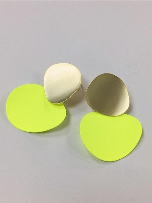 fluorescence color Brass Enamel Irregular Trend Drop Earring
