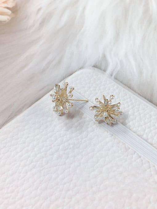 KEVIN Brass Cubic Zirconia Dainty Stud Earring