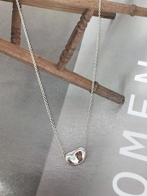 KEVIN 925 Sterling Silver Irregular Dainty Initials Necklace