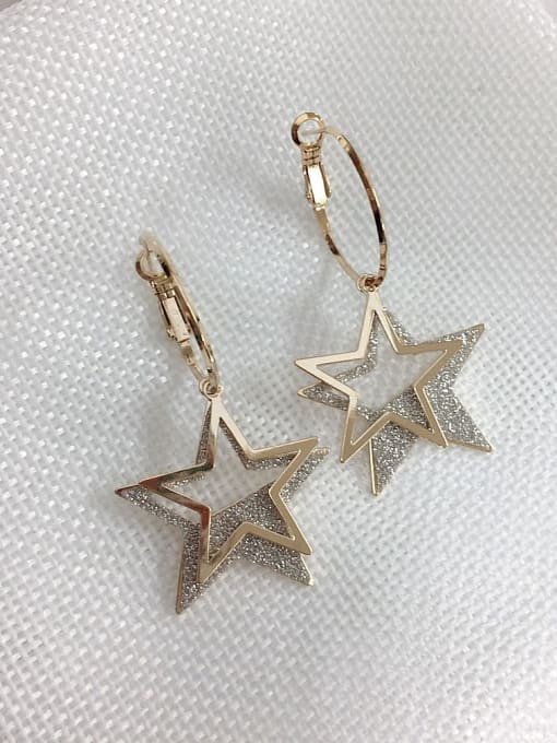 KEVIN Zinc Alloy Enamel Star Statement Hook Earring