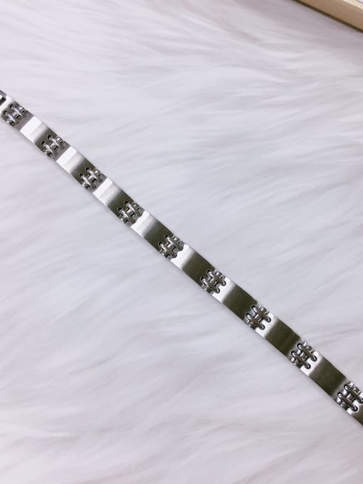 HE-IN Stainless steel Irregular Trend Adjustable Bracelet 1