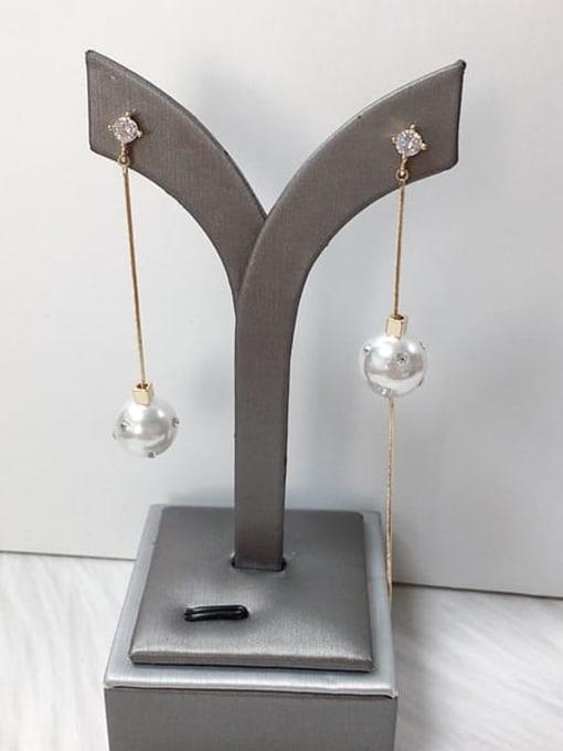 KEVIN Zinc Alloy Imitation Pearl Tassel Trend Threader Earring