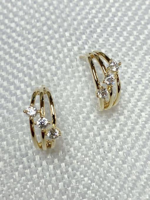 KEVIN Brass Cubic Zirconia Trend Stud Earring