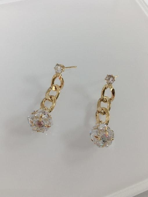KEVIN Brass Cubic Zirconia Rectangle Trend Drop Earring