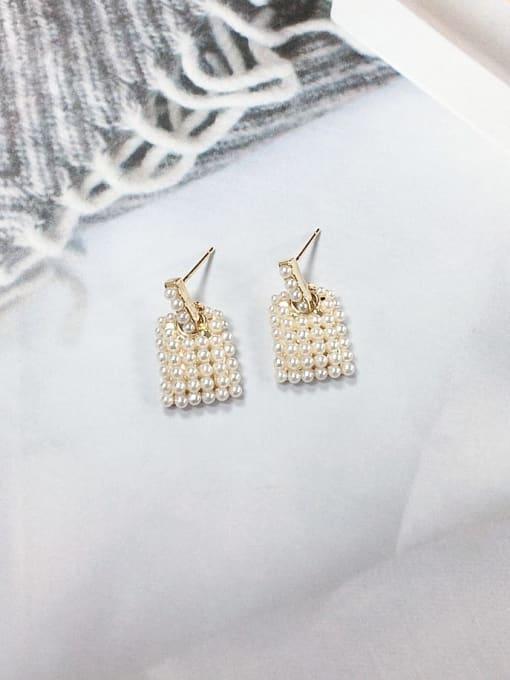 KEVIN Zinc Alloy Imitation Pearl Irregular Minimalist Drop Earring 0