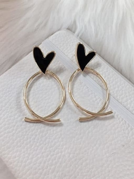 KEVIN Zinc Alloy Acrylic Heart Trend Drop Earring 1