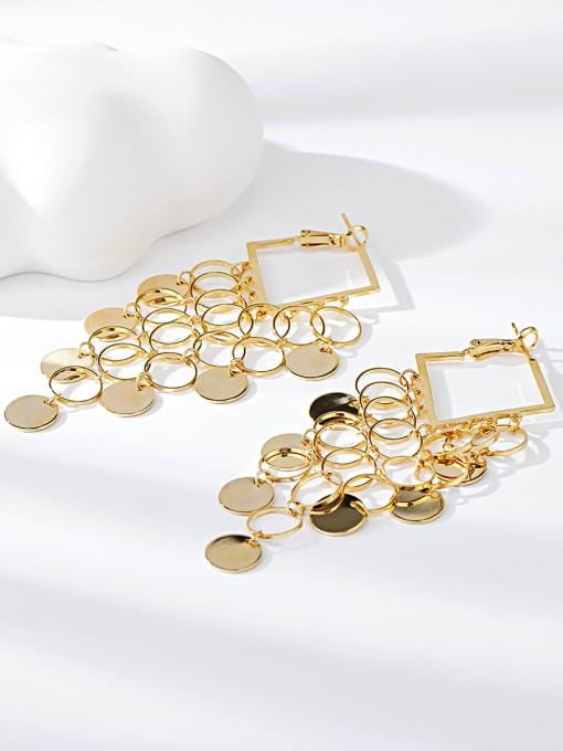 KEVIN Brass Irregular Trend Drop Earring