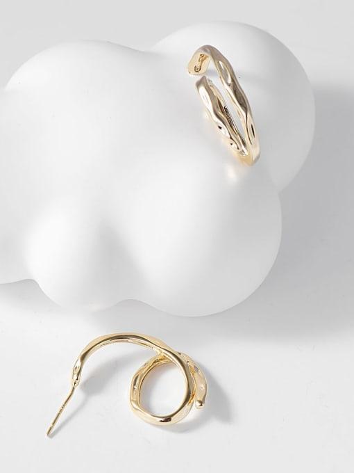 KEVIN Zinc Alloy Irregular Trend Stud Earring