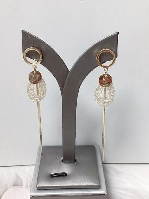 KEVIN Zinc Alloy Cubic Zirconia Tassel Trend Drop Earring 1
