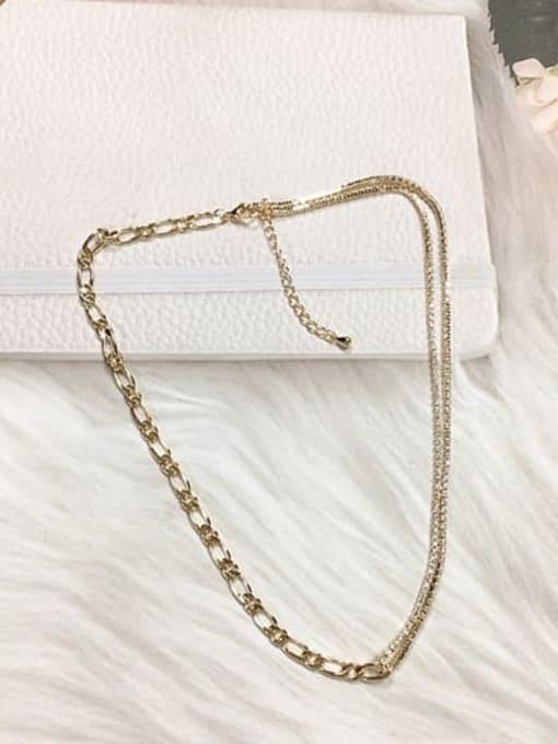 KEVIN Brass Cubic Zirconia Minimalist Necklace
