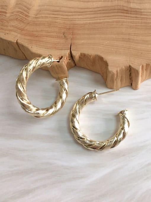 KEVIN Brass Cone Trend Hoop Earring