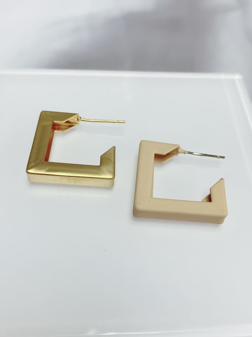 KEVIN Zinc Alloy Square Trend Stud Earring 0