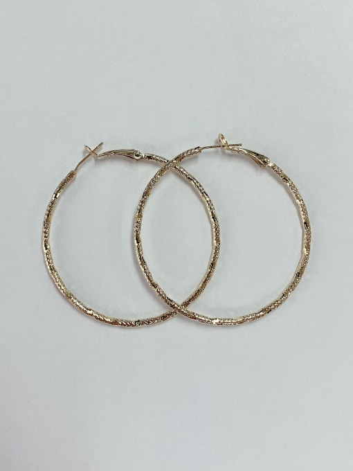 KEVIN Zinc Alloy Round Classic Hoop Earring