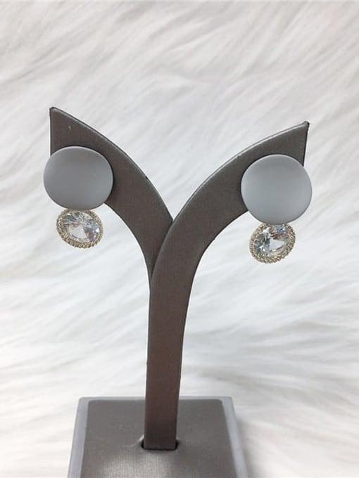 KEVIN Zinc Alloy Cubic Zirconia Enamel Water Drop Trend Drop Earring 2