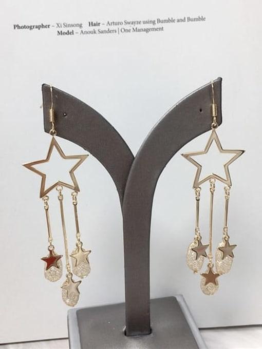 KEVIN Zinc Alloy Cubic Zirconia Star Trend Hook Earring 0