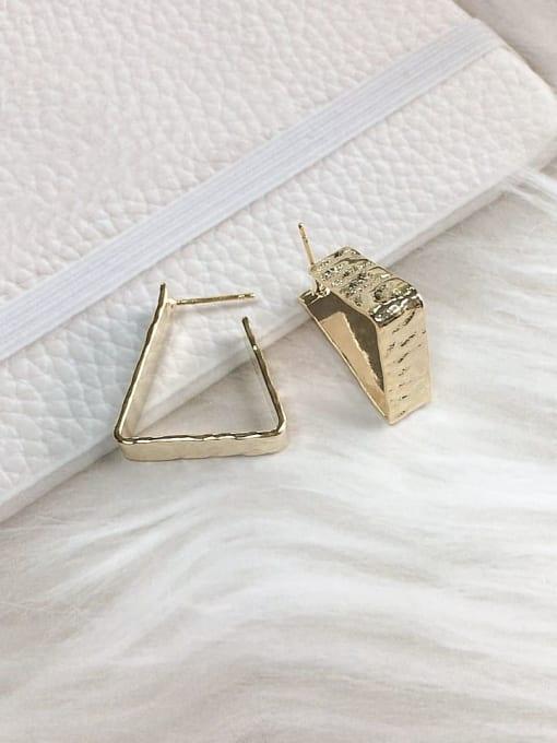 KEVIN Brass Irregular Classic Stud Earring