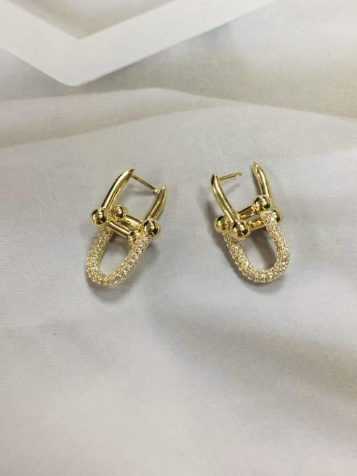KEVIN Brass Cubic Zirconia Irregular Trend Drop Earring
