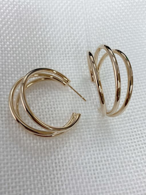 KEVIN Zinc Alloy Cone Classic Hoop Earring 1