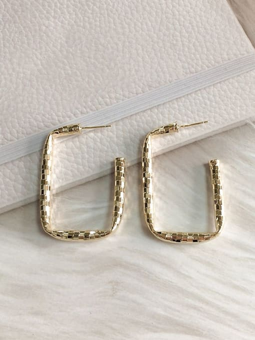 KEVIN Brass Rectangle Trend Drop Earring 0