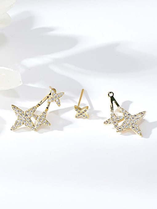 KEVIN Brass Cubic Zirconia Star Trend Stud Earring
