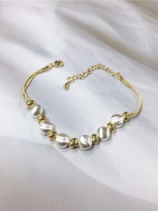 KEVIN Zinc Alloy Irregular Trend Link Bracelet 0