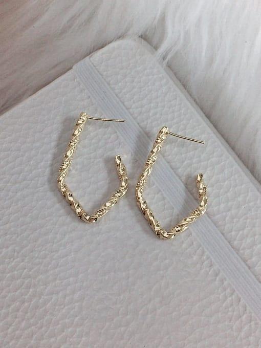 KEVIN Brass Hook Classic Hook Earring