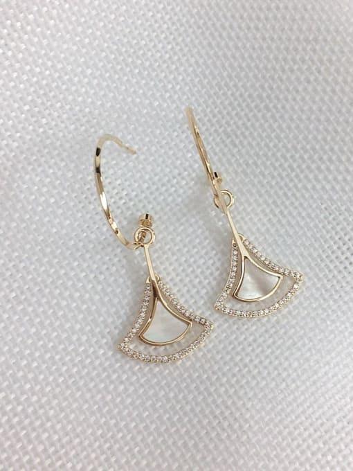 KEVIN Brass Shell Irregular Trend Hook Earring 0