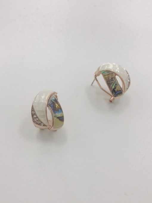 VIENNOIS Zinc Alloy Shell Multi Color Irregular Trend Clip Earring