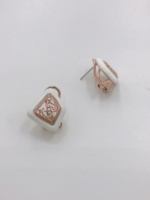 VIENNOIS Zinc Alloy Enamel Irregular Vintage Clip Earring 0