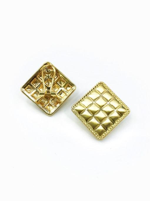 Gold Zinc Alloy Square Classic Clip Earring
