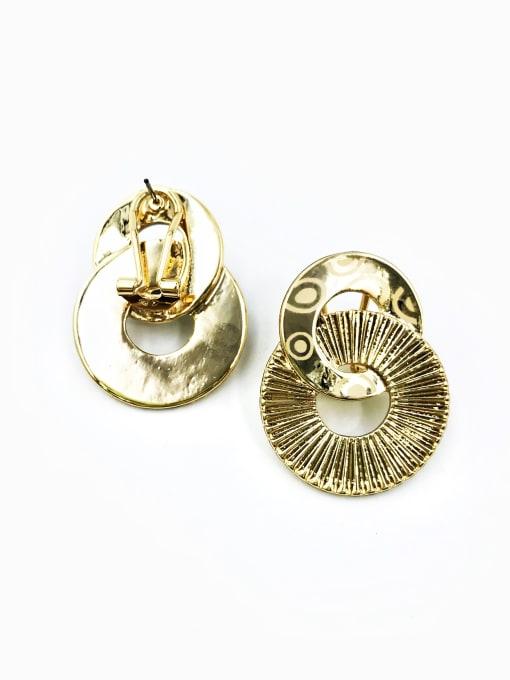 Gold Zinc Alloy Geometric Statement Clip Earring