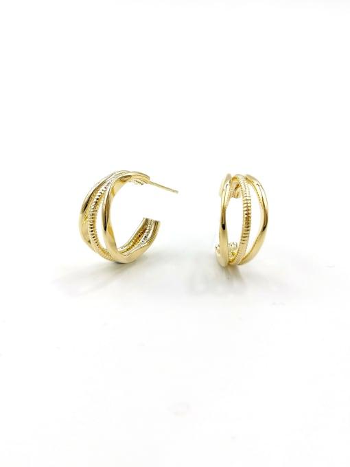 VIENNOIS Brass Irregular Minimalist Stud Earring