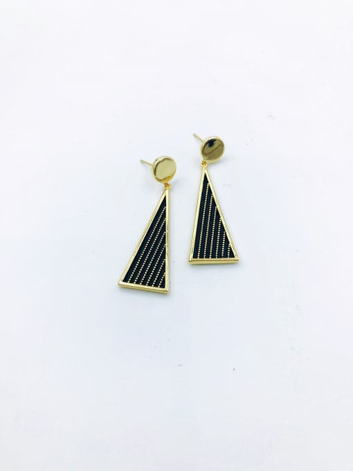VIENNOIS Brass Triangle Trend Drop Earring