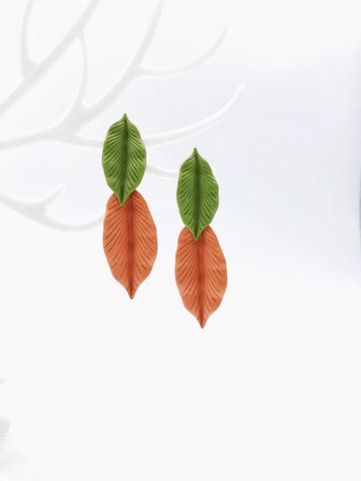 VIENNOIS Zinc Alloy Leaf Statement Drop Earring
