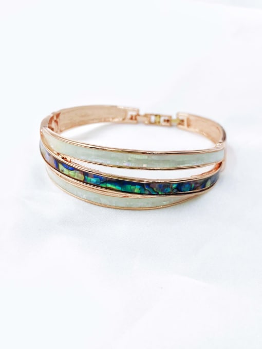 VIENNOIS Zinc Alloy Shell Multi Color Minimalist Band Bangle