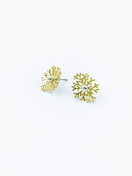 VIENNOIS Brass Irregular Stud Earring