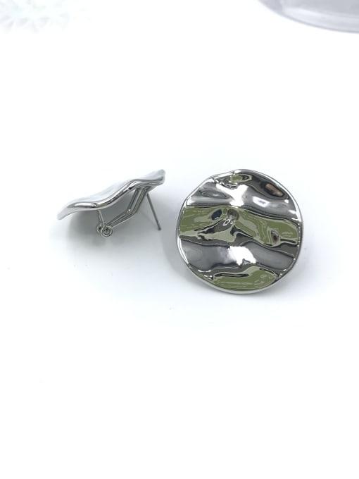 VIENNOIS Zinc Alloy Round Minimalist Clip Earring