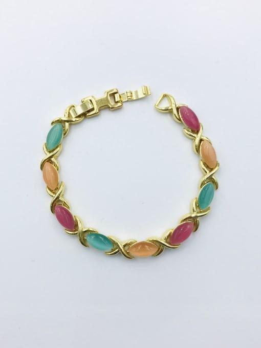 VIENNOIS Zinc Alloy Cats Eye Multi Color Geometric Trend Bracelet 0