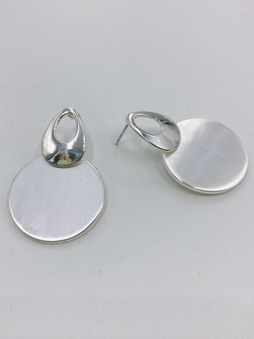 VIENNOIS Zinc Alloy Round Minimalist Drop Earring 0