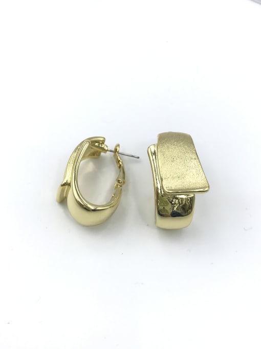 VIENNOIS Zinc Alloy Irregular Minimalist Huggie Earring 0