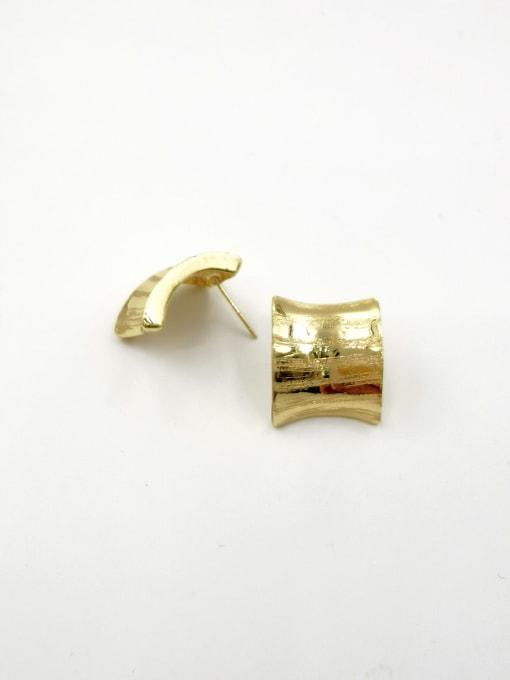 VIENNOIS Zinc Alloy Irregular Minimalist Stud Earring 0