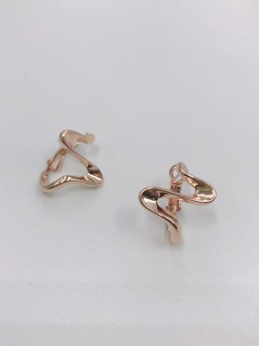 Rose Zinc Alloy Irregular Minimalist Huggie Earring