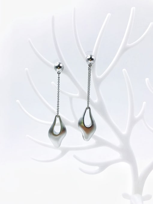 imitation rhodium Zinc Alloy Irregular Trend Drop Earring