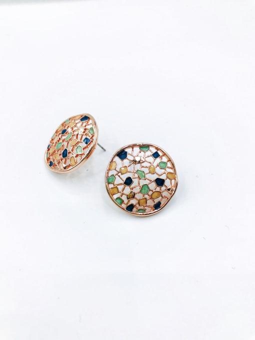 Rose Zinc Alloy Enamel Irregular Trend Stud Earring